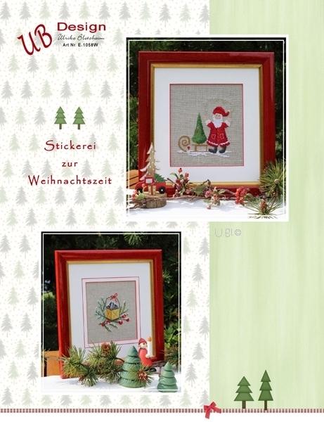 **〔UB Design〕 図案 UB-E-1058W Stickerei zur Weihnachtszeit