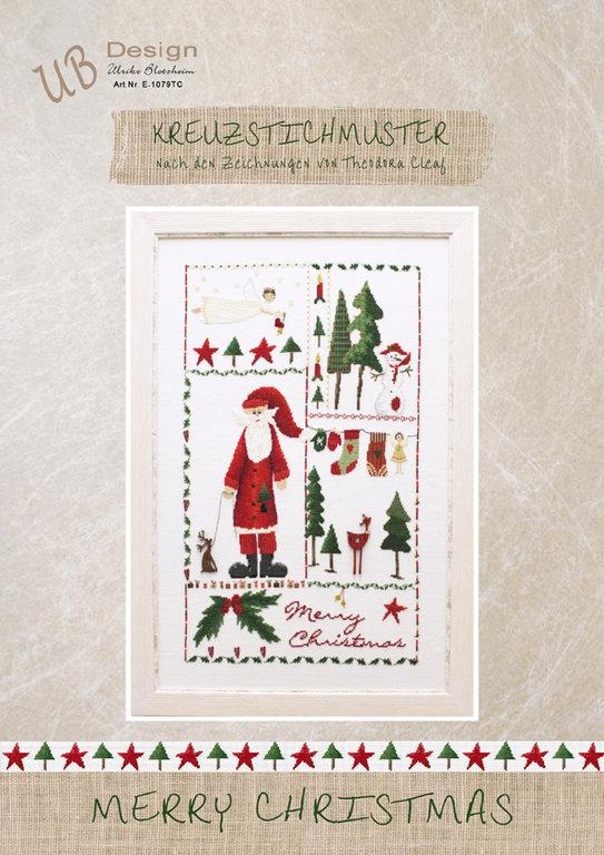 **〔UB Design〕 図案 UB-E-1079TC Merry Christmas