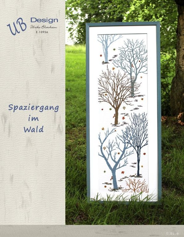 **〔UB Design〕 図案 UB-E-1095A Spaziergang im Wald