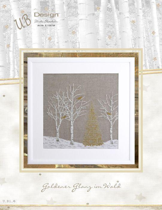 **〔UB Design〕 図案 UB-E-1097W Goldener Glanz im Wald