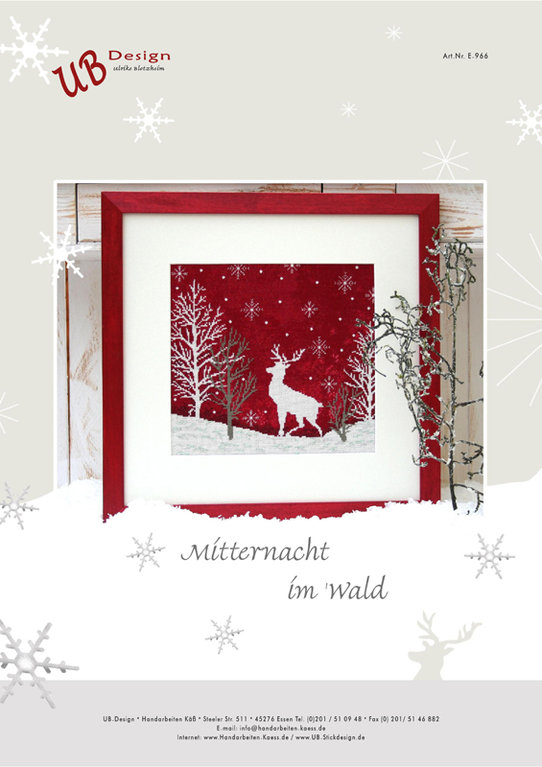 **〔UB Design〕 図案 UB-E-966 Mitternacht im Wald