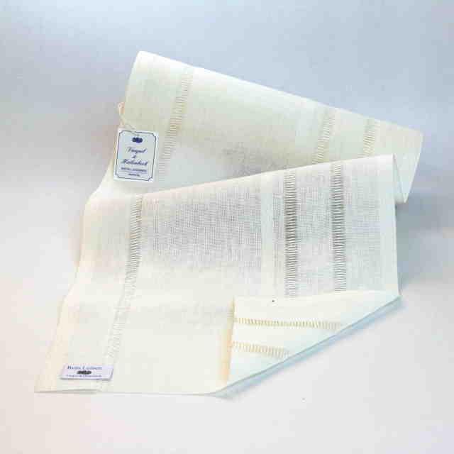 **〔VH-3000-285-900〕 リネンテープ 28.5cm幅 / ブリーチ (10cm単位)