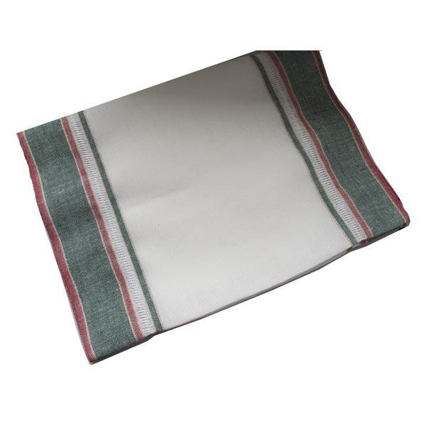 〔V&H 3010-20990〕 リネンテープ 34cm幅/赤&緑 (10cm単位)
