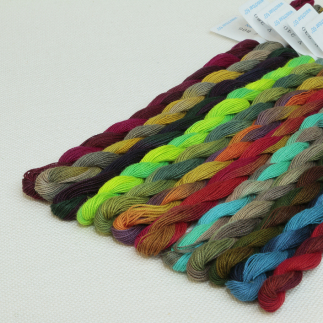 〔V&H〕 刺繍糸 / 段染め / コットン 全33色セット