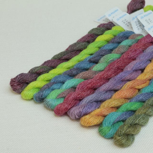 〔V&H〕 刺繍糸 / 段染め / ウール&アクリル 全18色セット