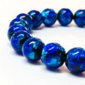ホタルガラス(ブルー) 10mmブレスレット