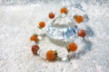 成功と健康の組み合わせ オレンジアベンチュリン+サンストーンブレスレット