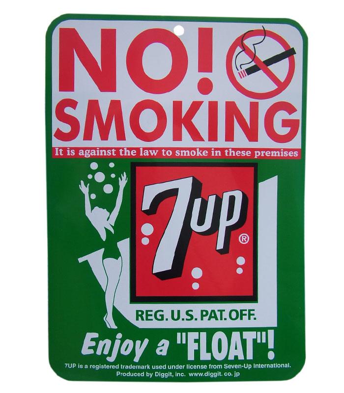 7UP SINGLE PRINT SIGN BOARD NO SMOKING