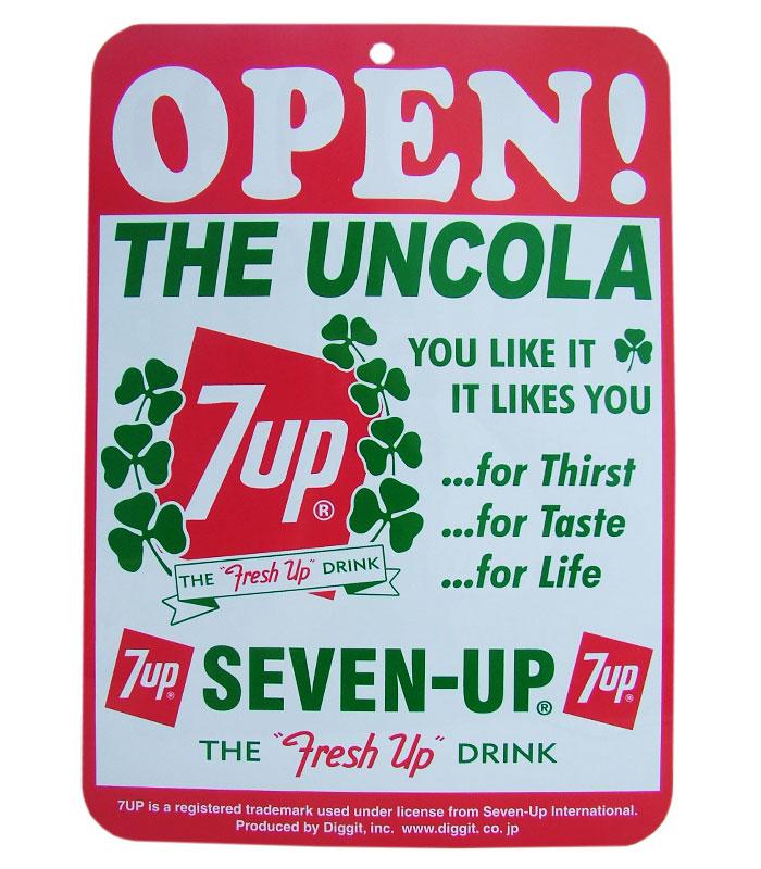 7UP OPEN/CLOSE SIGN BOARD No.A