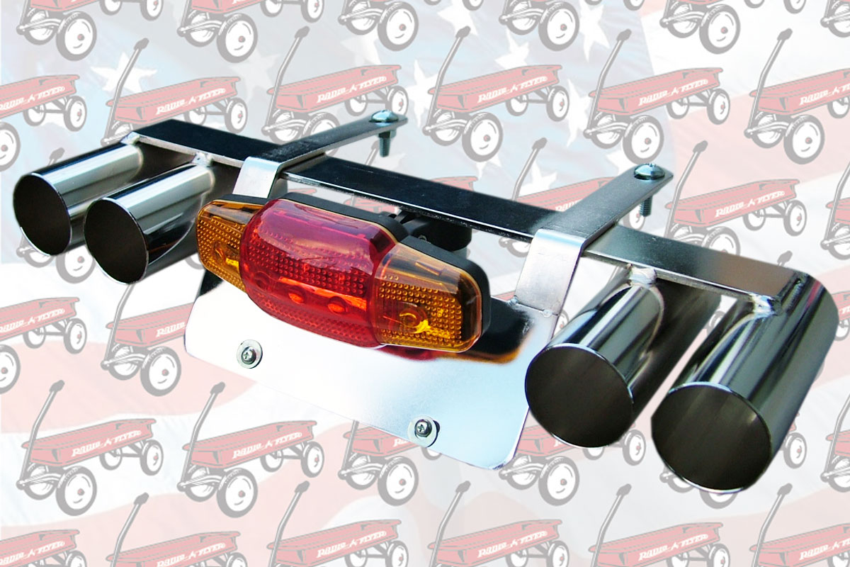 BIKE PLATE STAY W MUFFLER LIGHT