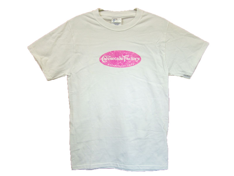 The cheesecake factoryT-SHIRT LOGO COLOR:PINK SIZE:S