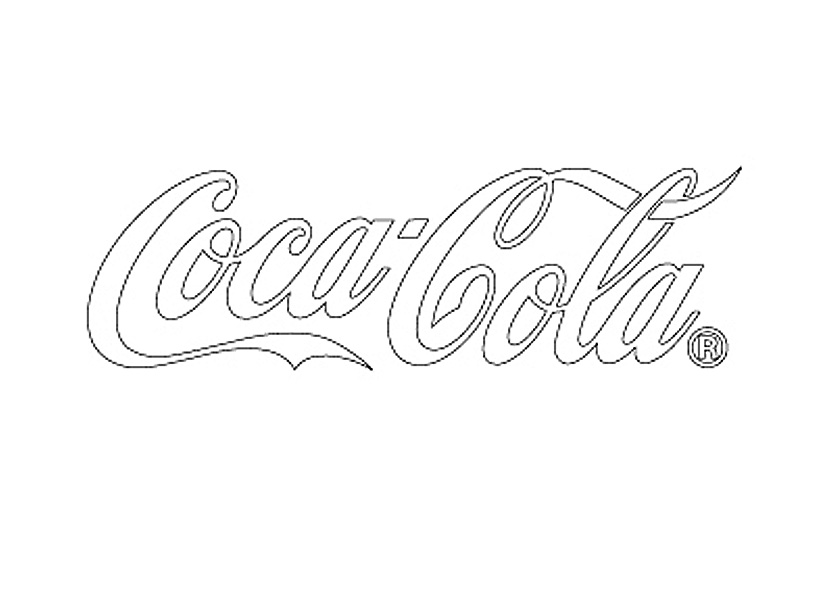 Coca-Cola★CC-CDL1 WHITE★コカ・コーラ カッティングステッカー★ 380mm