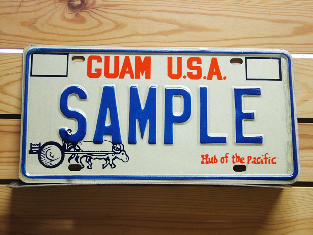Used License Plate★GUAM USA/グアム★SAMPLE