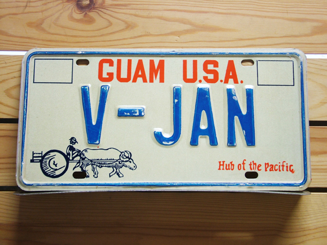Used License Plate★GUAM USA/グアム★V-JAN
