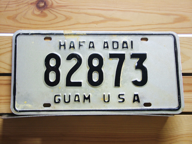 Used License Plate★GUAM USA/グアム★82873