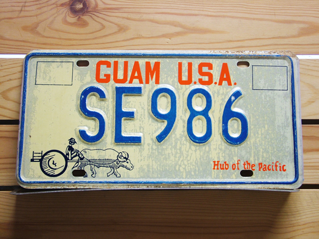 Used License Plate★GUAM USA/グアム★SE 986