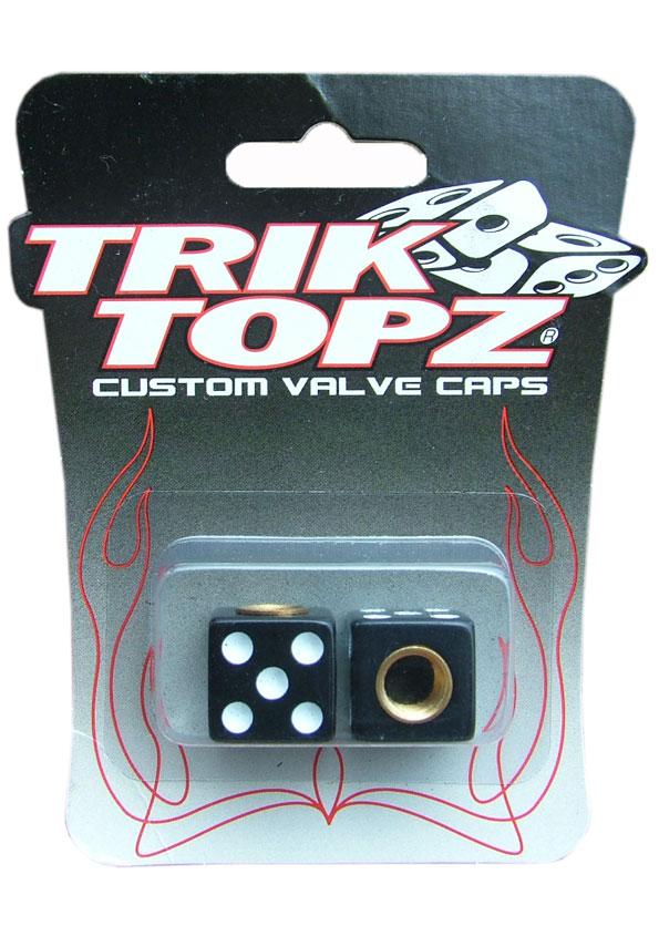 TorikTopz Air Valve Cap Dice BLACK★エア バルブ キャップ 4個 黒