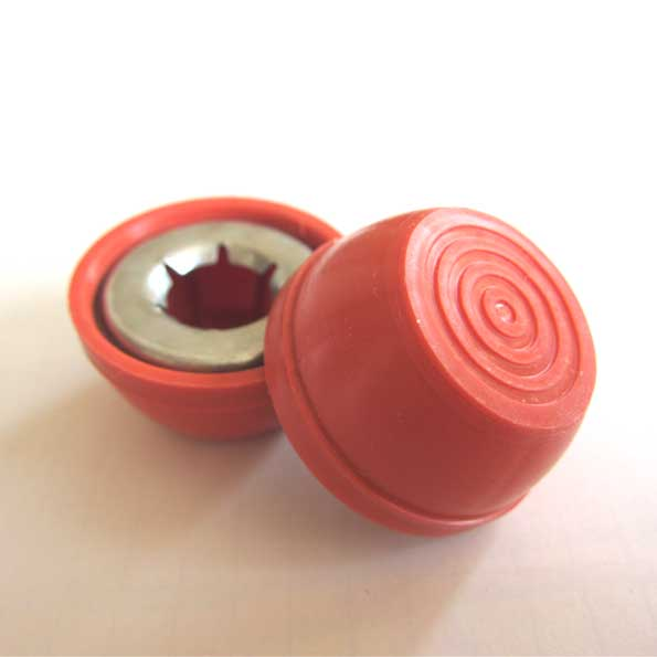 RadioFlyer 1/2inch HUB CAP RED 4P SET
