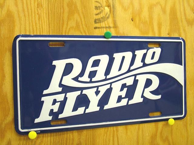 RadioFlyer Lic Plate Blu★RFLP3203B★
