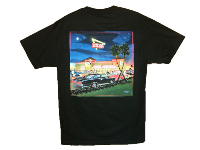 IN-N-OUT CALIFORNIA T-SHIRT COLOR:BLACK SIZE:M