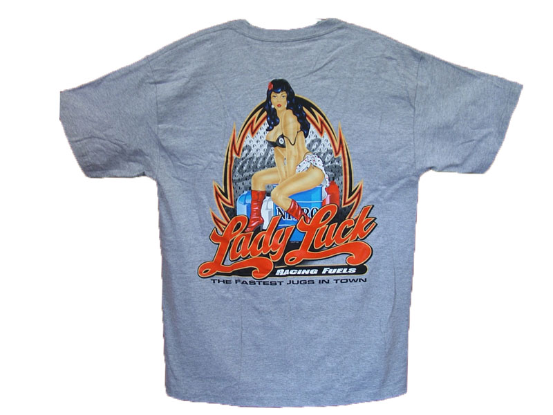 Lady Lucky T-SHIRT COLOR:GRAY SIZE:M