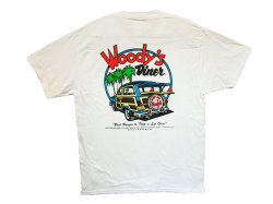 WOODY'S DINER T-SHIRT COLOR:WHITE SIZE:M