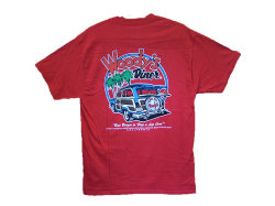 WOODY'S DINER T-SHIRT COLOR:RED SIZE:M