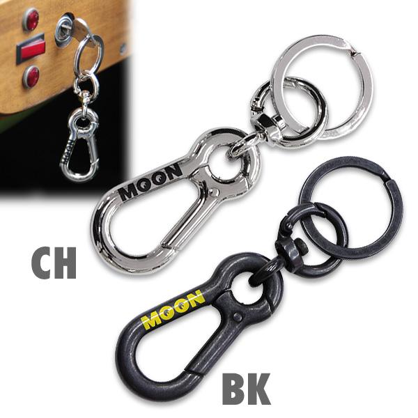 ムーン ダブル カラビナ キー ホルダー|MOON Double Carabiner key Holder