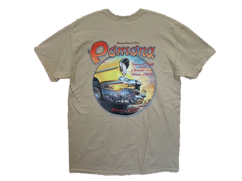 POMONA SWAP MEET 2014y T-SHIRT COLOR:BEIGE SIZE:M