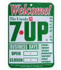 7UP SINGLE PRINT SIGN BOARD WELCOME