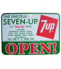 7UP OPEN/CLOSE SIGN BOARD No.B