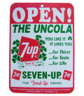 7UP OPEN/CLOSE SIGN BOARD No.A