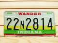 Used License Plate★INDIANA★22N2814