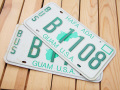 Used License Plate★2枚セット!GUAM U.S.A./2PSET★B1108