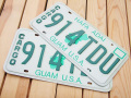 Used License Plate★2枚セット!GUAM U.S.A./2PSET★914TDU