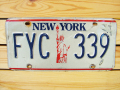 Used License Plate★NEW YORK/ニューヨーク★FYC 339