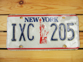 Used License Plate★NEW YORK/ニューヨーク★IXC 205