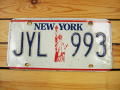 Used License Plate★NEW YORK/ニューヨーク★JYL 993