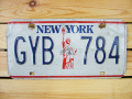Used License Plate★NEW YORK/ニューヨーク★GYB 784