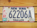 Used License Plate★NEW YORK/ニューヨーク★662206A