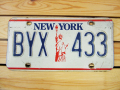 Used License Plate★NEW YORK/ニューヨーク★BYX 433