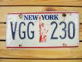 Used License Plate★NEW YORK/ニューヨーク★VGG 230