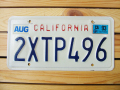 Used License Plate★CALIFORNIA/カリフォルニア★2XTP 496