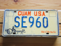 Used License Plate★GUAM USA/グアム★SE 960