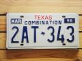Used License Plate★TEXAS/テキサス★2AT 343