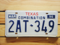 Used License Plate★TEXAS/テキサス★2AT 349