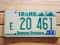 Used License Plate★IDAHO/アイダホ★E20 461