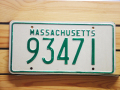 Used License Plate★MASSACHUSETTS/マサチューセッツ★93471