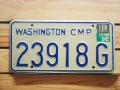 Used License Plate★WASHINGTON/ワシントン★23918G
