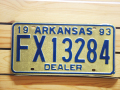 Used License Plate★ARKANSAS/アーカンソー★FX 13284